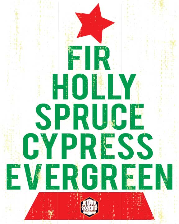 photo about Printable Word Art identified as Xmas Tree Phrase Artwork Free of charge Printable