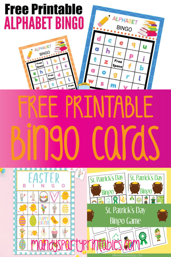 Free Printable Bingo Cards Mandy S Party Printables