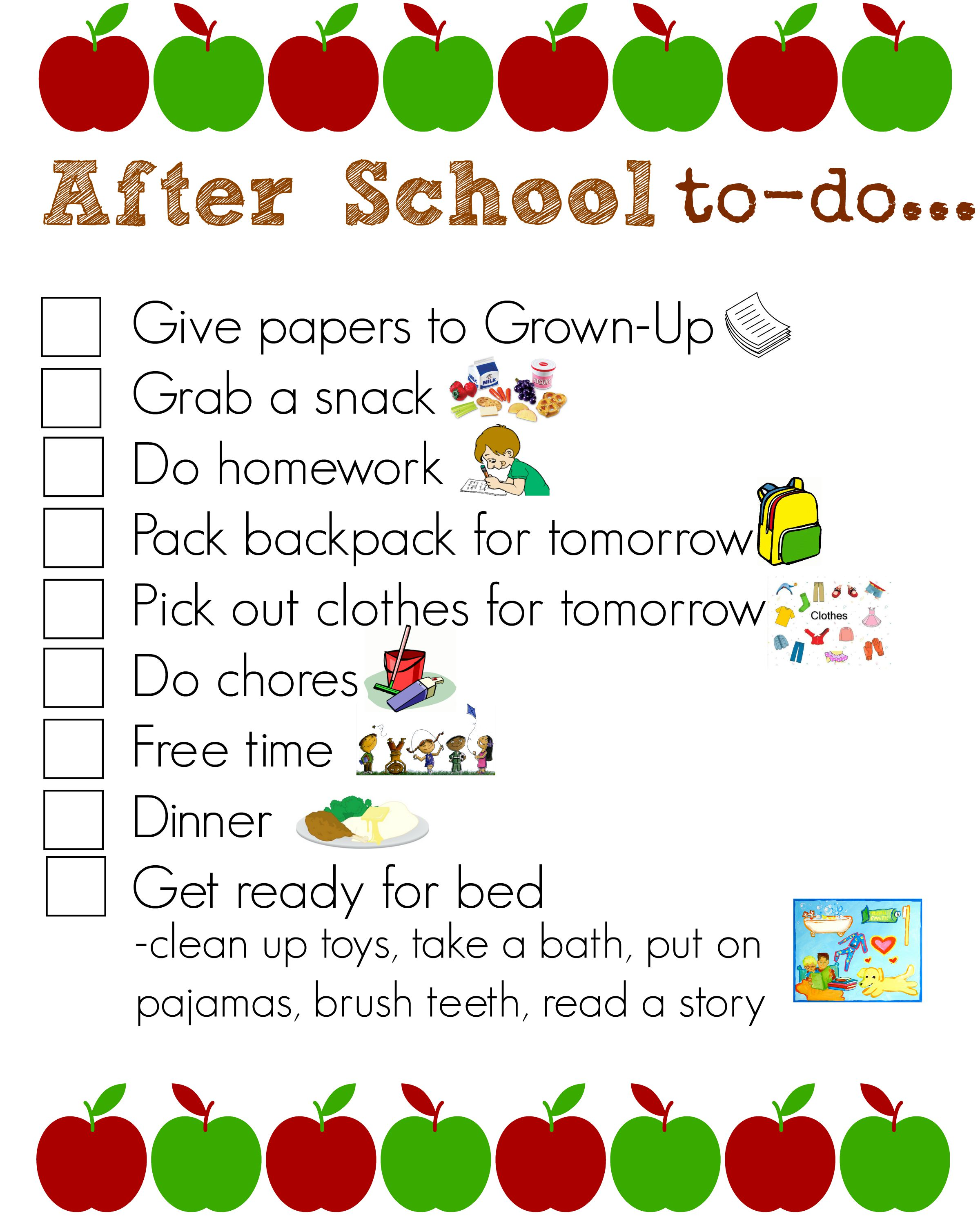 Daily Chores Routine Worksheet
