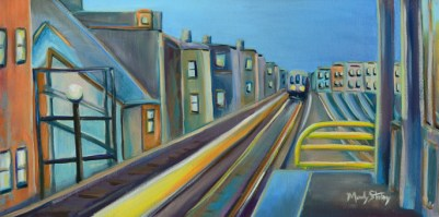Waiting-for-a-Chicago-Train-Painting