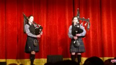 Pipers piping.