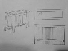 Console Table Drawing