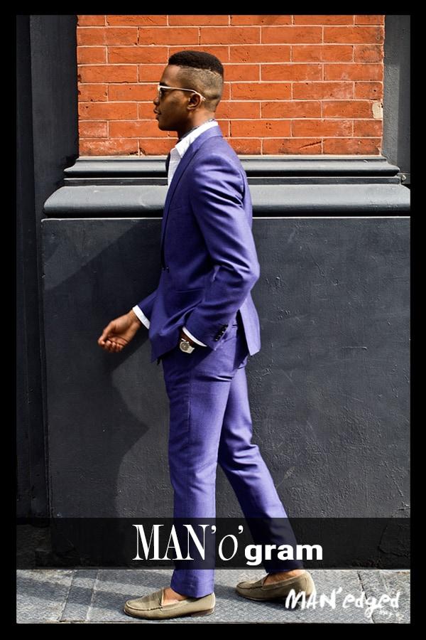 dapper gent, igee okafor, blue men's suit, men's style, men's look, new york, new york city, men's fashion