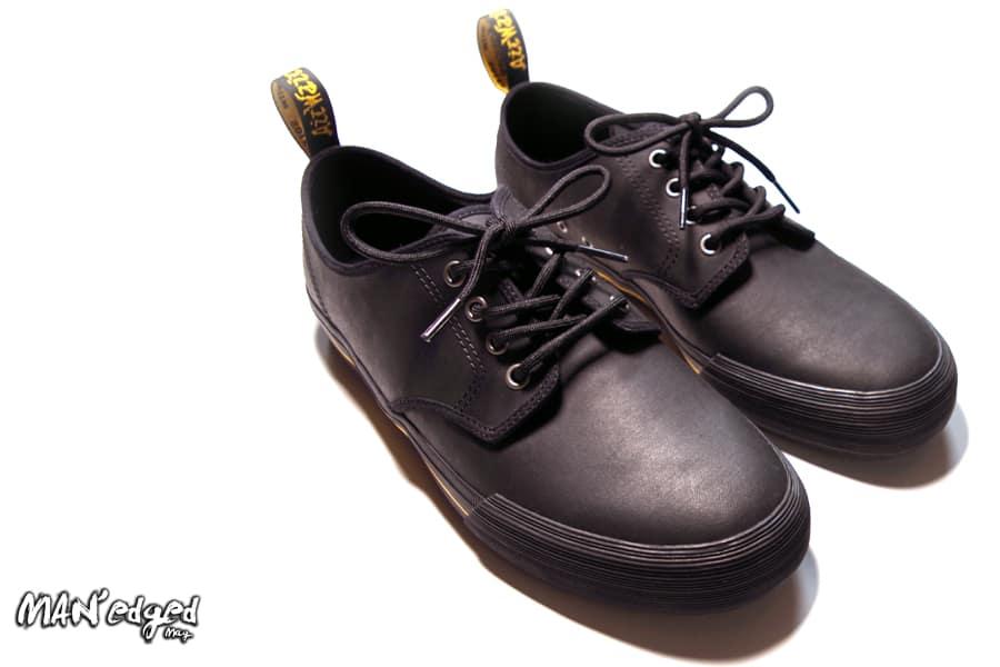 Black lace up Dr Marten men's shoes MAN'edged Magazine men's holiday gift guide