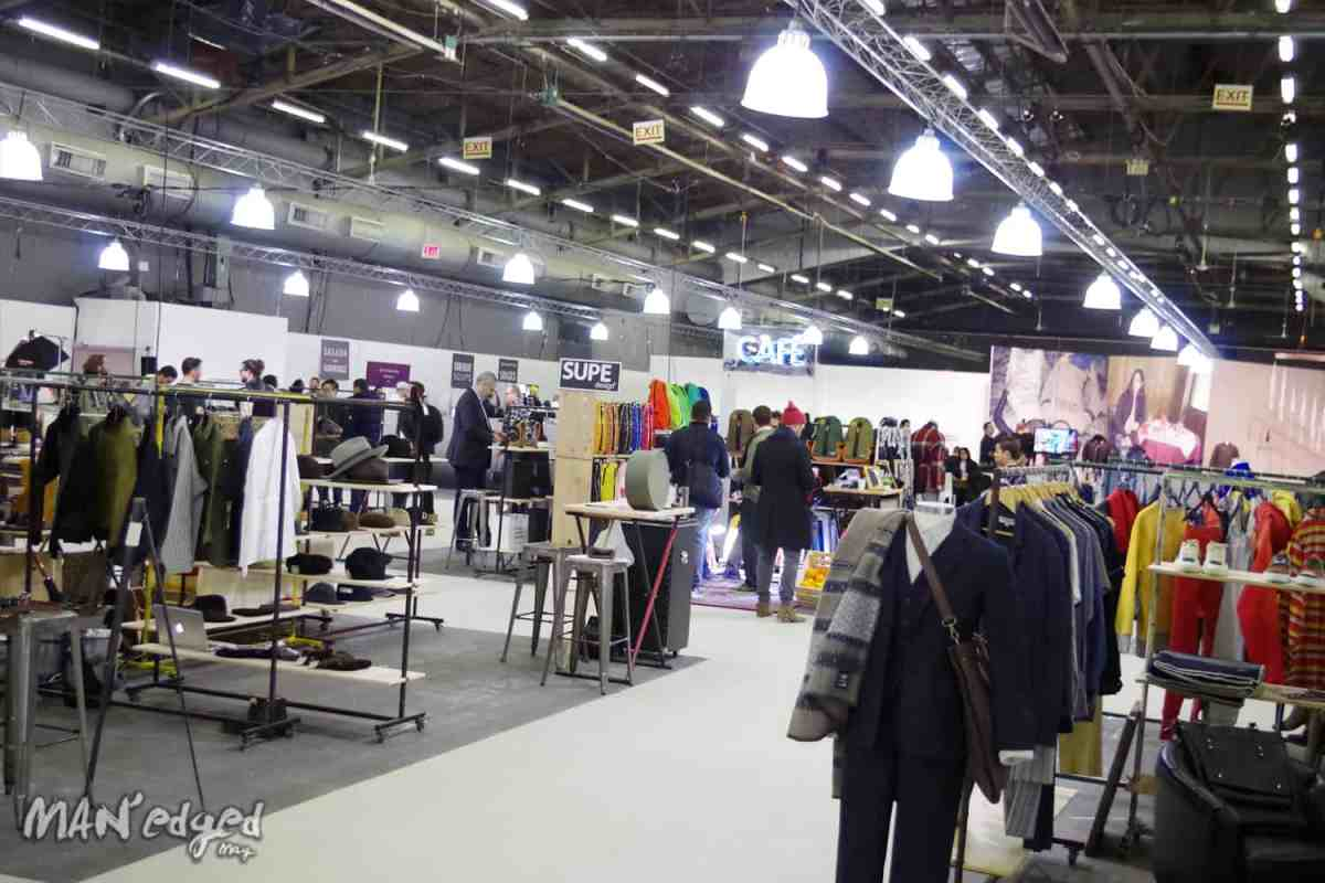 Freedom Hall section at Liberty Fairs showcasing various menswear brands.