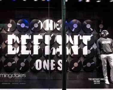 Bloomingdales 59th Street Window Displaying HBO THE DEFIANT ONES Merchandise