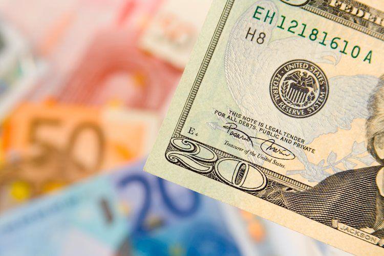 EUR / USD se consolida por debajo de 1.2200 en medio de un dólar estadounidense más débil