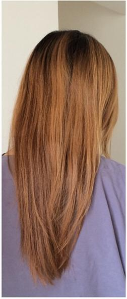 hair color before and after blog