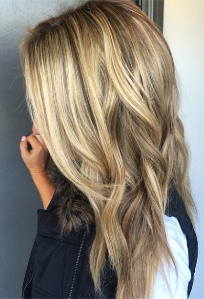 darker blonde with highlights