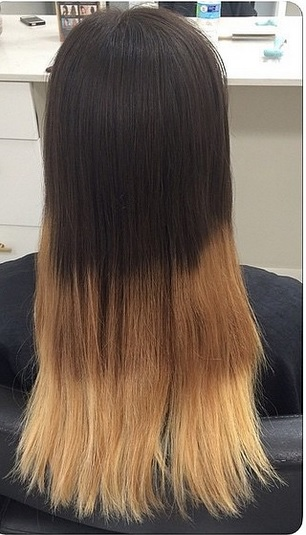 ombre hair color correction before and after