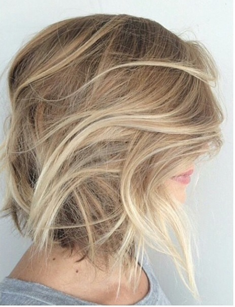 textured blonde bob hairstyle