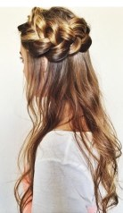 crown braid hairstyle idea