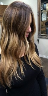brunette balayge highlights