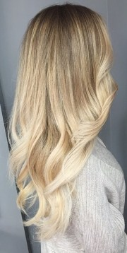 blonde hair color with platinum ends
