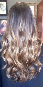 brunette hair color idea - balayage highlights