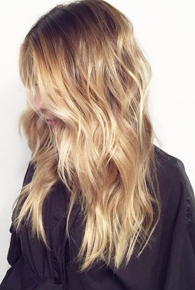 butterscotch blonde balayage