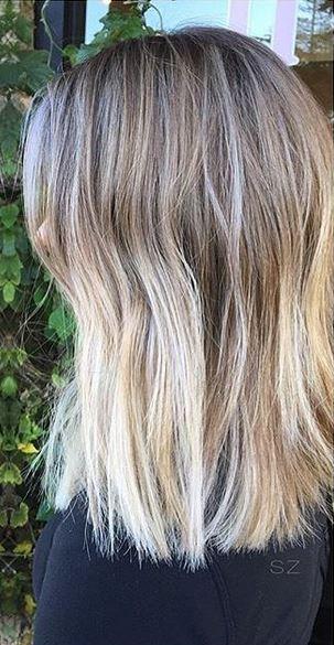 bronde ombre on shoulder length hair