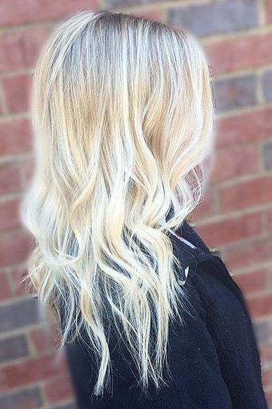 platinum and gold butter blonde highlights