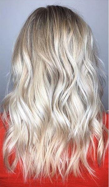 blonde highlights via balayage