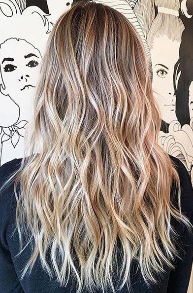 sandy and beige blonde highlights