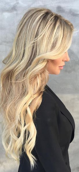 perfect blonde hair color and extensions