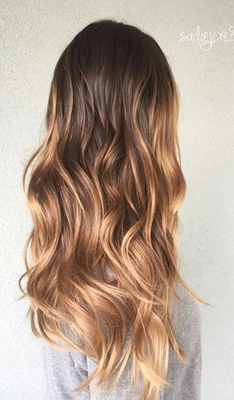 earth toned bronde highlights