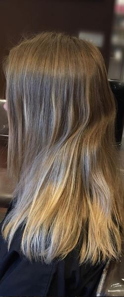 blonde highlights before and after