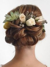 updo idea with flowers