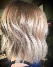 short blonde bob and highlights
