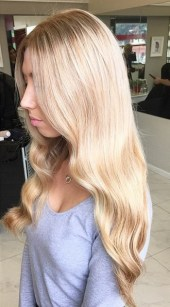 soft blonde and honey highlights