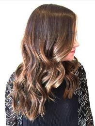 fall brunette hair color idea