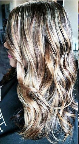 bronde hair color via balayage highlights