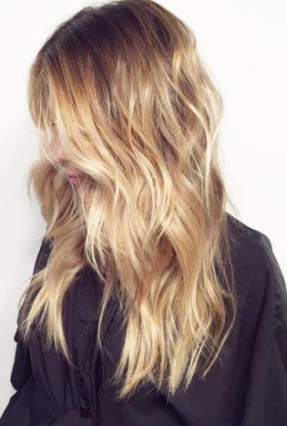 butterscotch blonde balayage