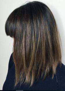 dark mocha brunette with subtle highlights
