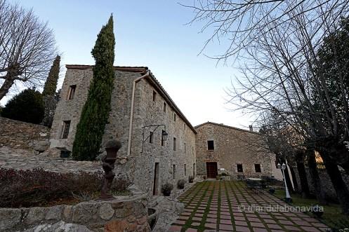 Entrada de l'hotel/restaurant Sant Marçal