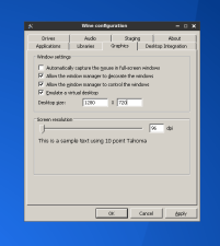 "Select ""enable virtual desktop"" and set a resolution, this to prevent the game to mess with your native resolution"