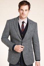 M&S | Sartorial Pure Wool Herringbone Worsted Jacket | £99