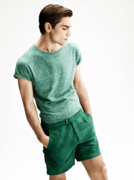 H&M Summer 2013 Collection Lookbook - Green T-shirt and Shorts