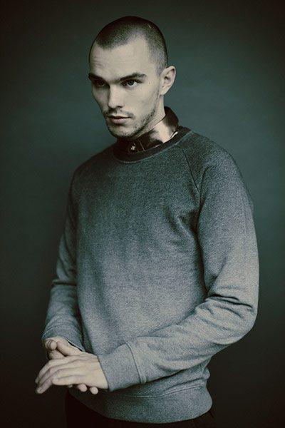 Copper Shirt: Versace | Sweatshirt: Cos