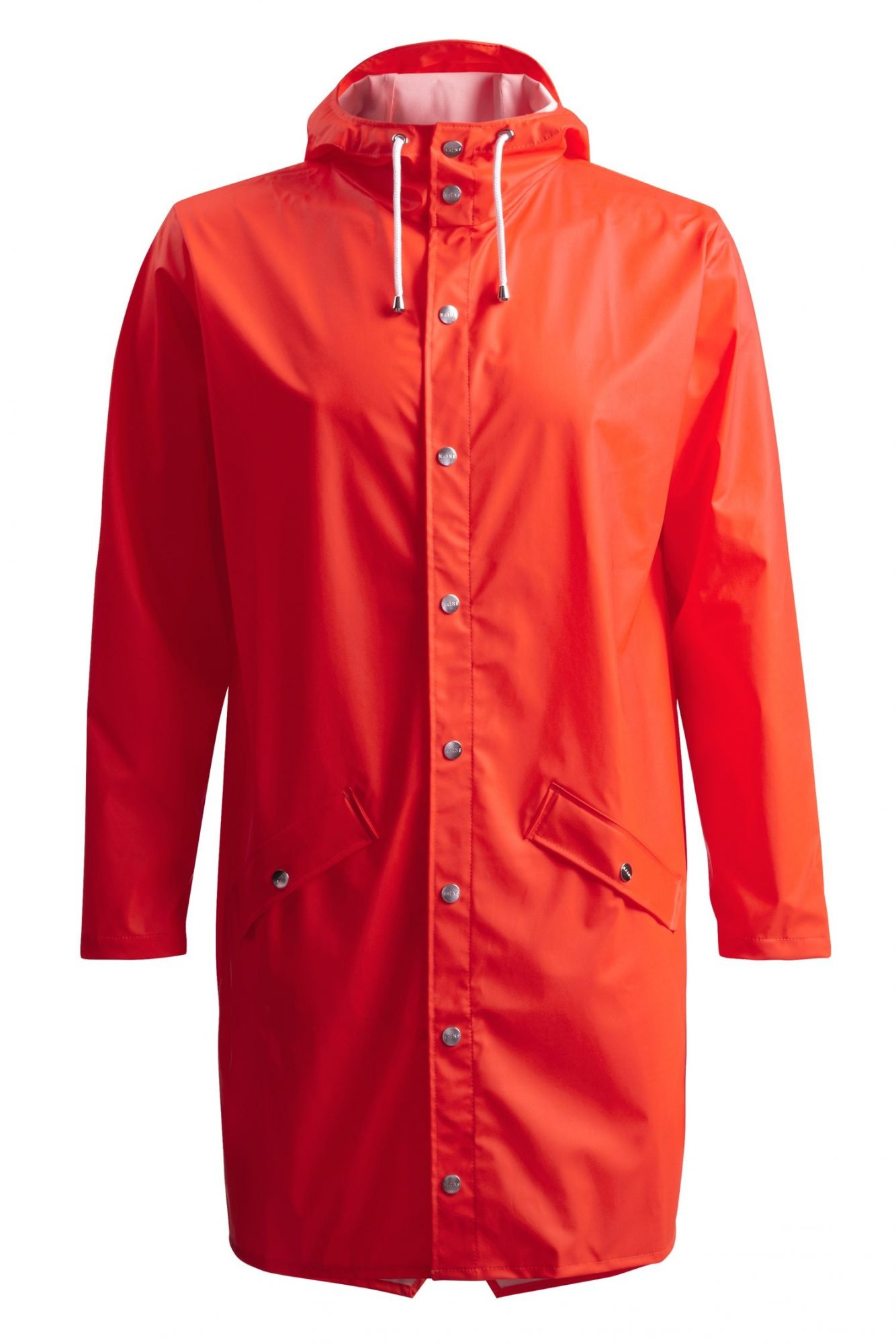 Rains-Denmark-Long-Raincoat-Orange
