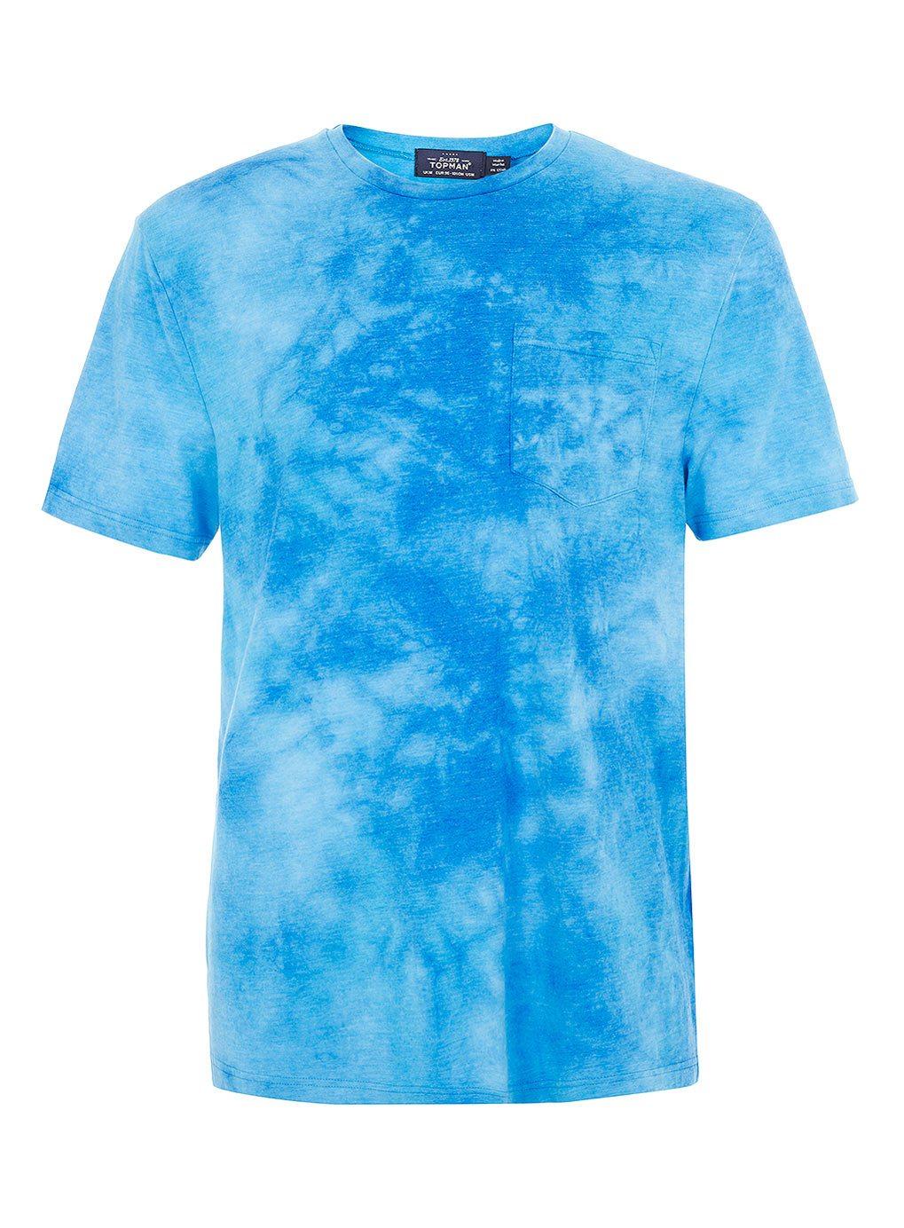 Topman-Tie-Dye-T-shirt-Blue