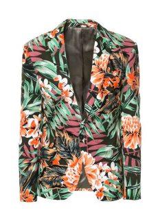 Zara-Floral-Blazer-Khaki-Full