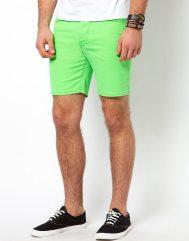 ASOS-Neon-Green-Short-Shorts