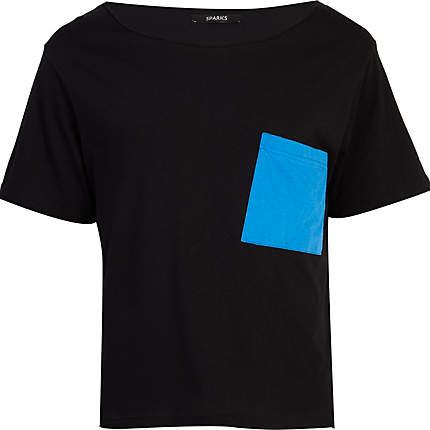 Black-Sparks-Blue-Block-Black-T-Shirt