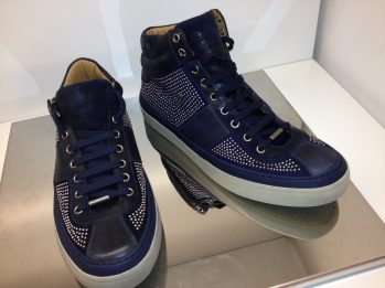 Jimmy-Choo-Mens-Cruise-2014-Navy-Studs-Studded-Belgravia-Portman-High-top-Sneaker