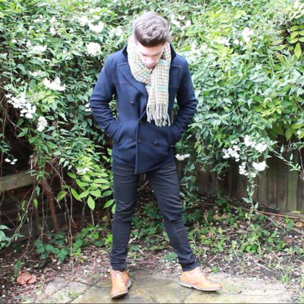 Topman-Pea-Coat-Johnstons-of-Elgin-Cashmere-Gloves-Knockando-Shepherds-Scarf-Cheap-Monday-Skinny-Jeans