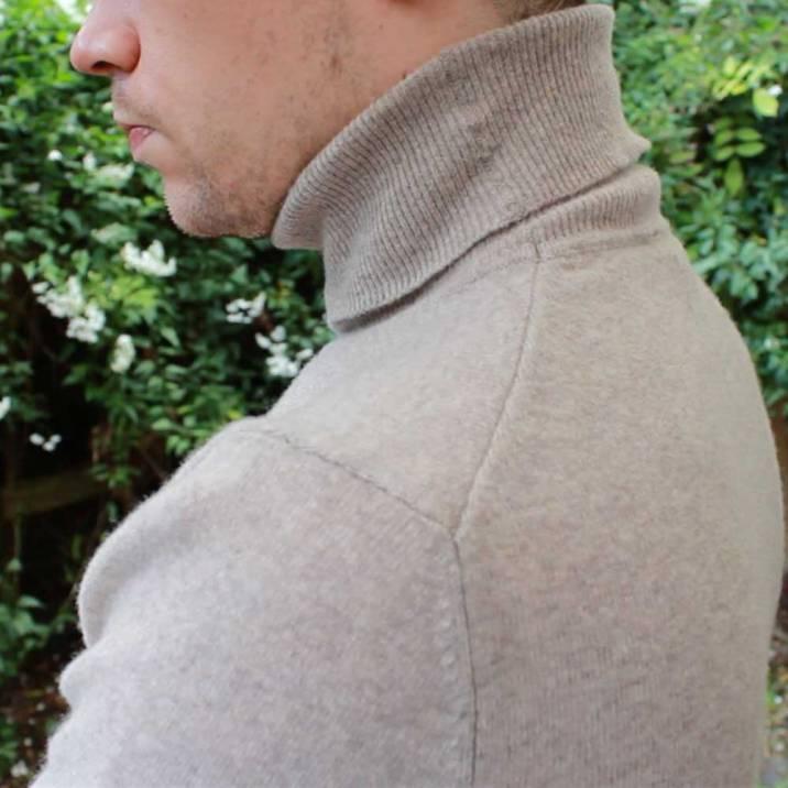 United-Colors-of-Benetton-Merino-Wool-Roll-Neck-Beige-side