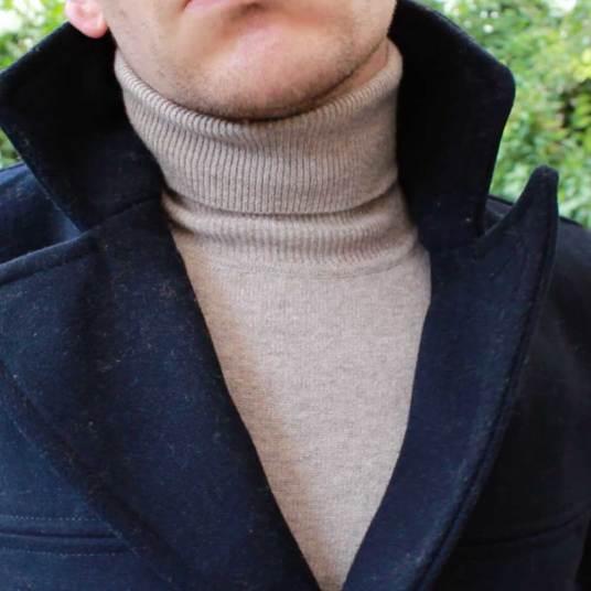United-Colors-of-Benetton-Merino-Wool-Roll-Neck-Beige