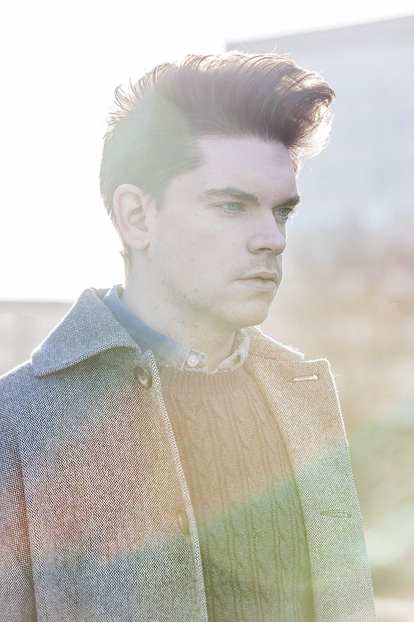 Robin_James_The_Utter_Gutter_Topman_Clothes_Winter_Shoot_Grey_Coat_Cable_Knit_Denim_Shirt_Headshot