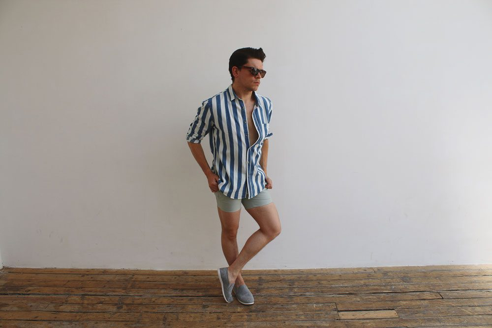 1-Green-Oxford-Micro-Shorts-Topman